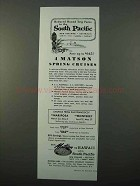 1959 Matson Lines Cruise Ad - South Pacific