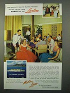 1956 Matson Lines Cruise Ad - Sailing Hawaii on Lurline