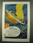 1944 Matson Lines Cruise Ad - The Islands And Lands