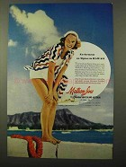 1941 Matson Line Ad - Excitement on Tiptoe in Hawaii