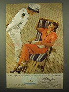 1939 Matson Line Cruise Ad - Hawaii's Flowered Isles