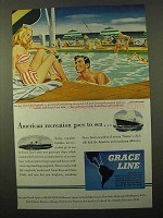 1946 Grace Line Cruise Ad - American Recreation