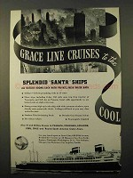 1938 Grace Line Cruise Ad - To The Cool