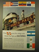 1934 Grace Line Cruise Ad - New York and California