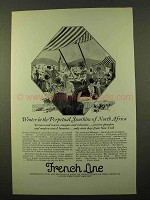 1926 French Line Cruise Ad - Winter in North Africa