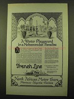 1923 French Line Cruise Ad - Mohammedan Paradise