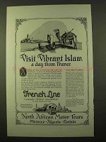 1923 French Line Cruise Ad - Visit Vibrant Islam