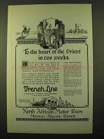 1923 French Line Cruise Ad - Heart of the Orient