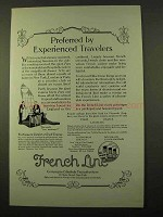 1923 French Line Cruise Ad - Preferred by Travelers