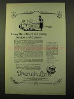 1923 French Line Cruise Ad - Utmost in Luxury, Service