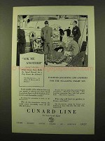 1927 Cunard Cruise Ad - Ask Me Another
