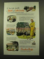 1952 Canadian Pacific Railroad Ad - Banff Lake Louise