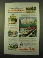 1952 Canadian Pacific Railroad Ad - East-to-West Canada