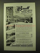 1936 Canadian Pacific Hotels Ad - Banff Lake Louise