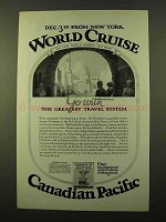 1925 Canadian Pacific Cruise Advertisement - World Cruise
