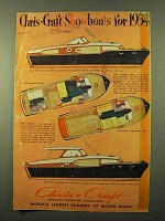 1954 Chris-Craft Boat Ad - 36ft Corvette, Commander