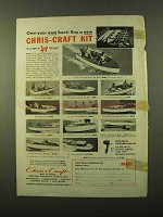 1953 Chris-Craft Kit Boats Ad - Pram, Runabout, Cruiser