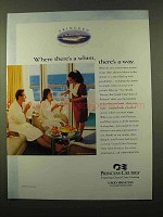 2000 Princess Cruises Ad - Where Whim, There's a Way