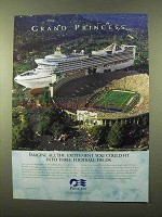 1999 Princess Cruises Ad - Three Football Fields