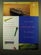 1998 Royal Caribbean Cruise Ad - Four Rounds of Golf