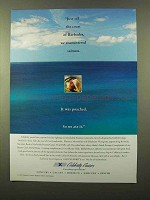 1997 Celebrity Cruises Ad - Off the Coast of Barbados