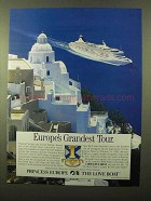 1992 Princess Cruise Ad - Europe's Grandest Tour