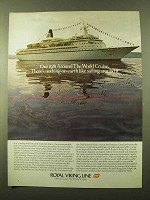 1980 Royal Viking Line Ad - Around the World Cruise