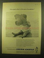 1959 Union-Castle Cruise Ad - You Need a Hat