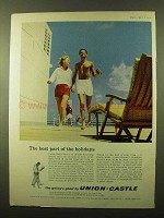 1959 Union-Castle Cruise Ad - Best Part of the Holidays