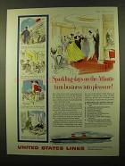 1959 United States Lines Ad - Sparkling Days