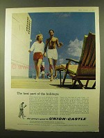 1958 Union-Castle Cruise Ad - Best Part of the Holidays