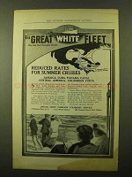 1914 United Fruit Co. Steamship Service Ad - Great White Fleet