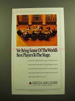 1994 Delta Air Lines Ad - Best Players to the Stage
