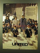 1989 United Airlines Ad - All Buttoned Up in Seoul