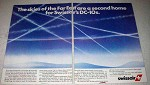 1980 Swissair Airline Ad - The Skies of the Far East