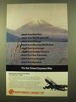 1972 Northwest Orient Airlines Ad - Fly Orient Express