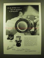 1958 Schneider Curtagon and Tele-Arton Lenses Ad