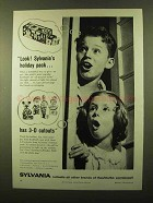 1958 Sylvania Flashbulbs Ad - Look! Holiday Pack!