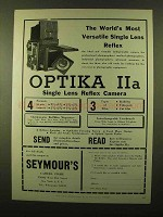 1958 Optika Iia Camera Ad - World's Most Versatile