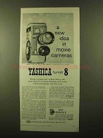 1958 Yashica Turret 8 Movie Camera Ad - New Idea