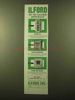 1958 Ilford HP3 Film, Microphen and Multigrade Paper Ad