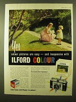 1958 Ilford Colour Film Ad - Colour Pictures Easy