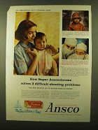 1958 Ansco Super Anscochrome Film Ad - Jacques Lowe