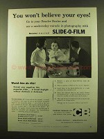 1958 Beseler Slide-O-Film Slide-O-Printer, Processor Ad