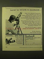 1958 Bushnell Spacemaster and Bino-Foto Ad - Miracle