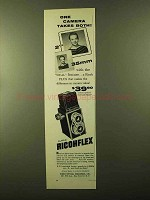 1957 Ricoh Super Ricohflex Camera Ad - Takes Both