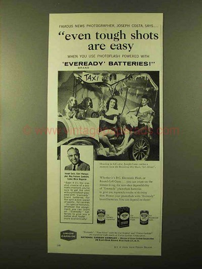 1957 Eveready Batteries Ad - Broadway Show Li'l Abner