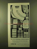 1957 Ilford Ad - Film, Plates, Paper, Chemicals