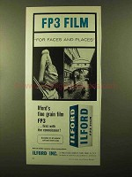 1957 Ilford FP3 Film Ad - For Faces and Places