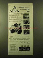 1957 Alpa Camera Ad - The All-in-One Camera